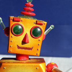 Picture of friendly robot